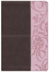 The Study Bible for Women, Brown and Pink LeatherTouch, Thumb-Indexed