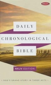 Daily Chronological Bible: NKJV Edition, Hardcover - Slightly Imperfect