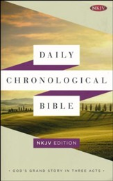 Daily Chronological Bible: NKJV Edition, Trade Paper - Slightly Imperfect