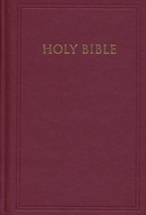 KJV Pew Bible, Deep Garnet Maroon, Hardcover - Imperfectly Imprinted Bibles