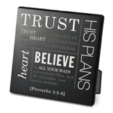 Trust Plaque, Black