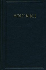 KJV Pew Bible, Black, Hardcover - Imperfectly Imprinted Bibles