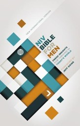 NIV Devotional Bible for Men--hardcover, jacketed printed