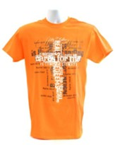 My Father Cares For Me Shirt, Orange, Small