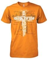 My Father Cares For Me Shirt, Orange, XXX-Large