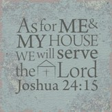 Joshua 24:15, Tabletop Plaque