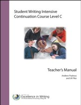 Student Writing Intensive Continuation Course Level C Teacher's Manual