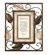 Faithful Servant, Romans 1:17 Framed Print
