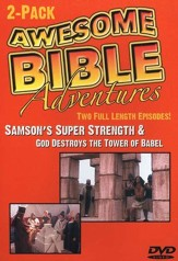 Awesome Bible Adventures: Samson's Super Strength & God Destroys  the Tower of Babel, DVD
