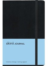 Skinii Journal, Italian Duo-Tone, Black, Hard Case