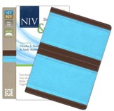 NIV and KJV Side-by-Side Bible, Compact: God's Unchanging Word Across the Centuries, Italian Duo-Tone, Chocolate/Turquoise