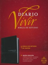 Biblia de Estudio del Diario Vivir RVR 1960, SentiPiel, Onice  (RVR 1960 Life Application Study Bible, Imit. Leather, Onyx)