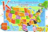 Kids' Puzzle of the United States (55 Jumbo Pieces)