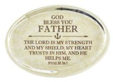 Father, Psalm 28:7 Oval Paperweight