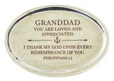 Granddad, Philippians 1:3 Oval Paperweight