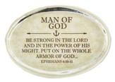 Man of God, Ephesians 6:10 Oval Paperweight