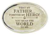 First My Father Glass Oval Paperweight