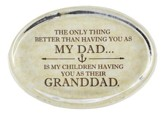 Granddad Glass Oval Paperweight
