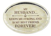My Husband Glass Oval Paperweight