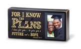 Jeremiah 29:11 Graduation Photo Box Clock, Black & Gold