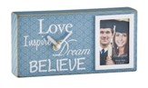 Believe, Dream, Love, Inspire Graduation Photo Box Clock