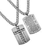 Man of God Chain Cross Necklace, Silver