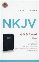 NKJV Gift & Award Bible, Imitation leather, Black  - Slightly Imperfect