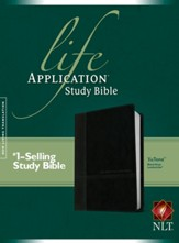 NLT Life Application Study Bible, TuTone Imitation Leather, Black/Onyx