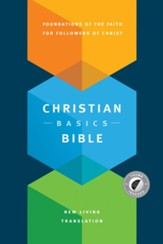 NLT Christian Basics Bible, Hardcover with Thumb Index