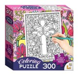 Cross Coloring Puzzle, 300 pieces