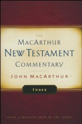 Index: MacArthur New Testament Commentary