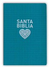 NTV Santa Biblia edicion personal letra grande, NTV Personal Size Large Print Bible, Imitation Leather, Aqua - Slightly Imperfect