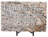 God Has Plans to Give You A Future and A Hope Granite Plaque, Taupe