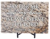 As For Me and My House We Will Serve the Lord Granite Plaque, Taupe