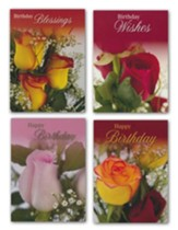 Rose Bouquet Birthday Cars, Box of 12