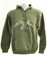 Duck Commander Hooded Sweatshirt, Green, Small