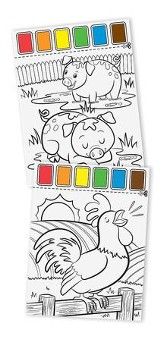 Paint with Water, Farm Animals
