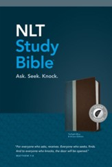 NLT Study Bible, TuTone, LeatherLike, Brown, With thumb index
