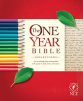 NLT One Year Bible Reflections Edition, Paperback