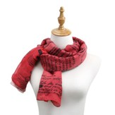 Love, Poetic Threads Scarf, Red