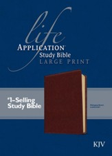 KJV Life Application Study Bible, Large Print Brown Leatherlike