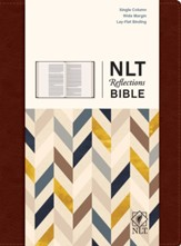 NLT Reflections: The Bible for Journaling, Brown Leatherlike - Imperfectly Imprinted Bibles