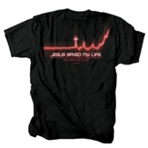 Life Line, Jesus Saved My Life Shirt, Black, Large