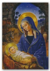 Mary with Child, Advent Greeting Card