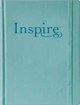 NLT Inspire Large Print Bible for Creative Journaling Hardcover Tranquil Blue Leatherlike - Slightly Imperfect