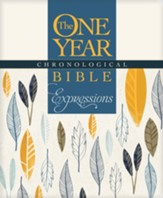 NLT One Year Chronological Bible Creative Expressions, Softcover  - Slightly Imperfect