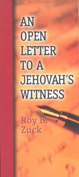 An Open Letter to a Jehovah's Witness -Pamphlet