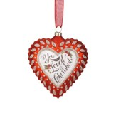 You Are Loved and Cherished Heart Ornament