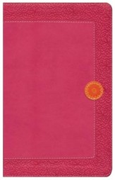 NIV Homeschool Mom's Bible: Daily Personal Encouragement, Italian Duo-Tone, Hot Pink