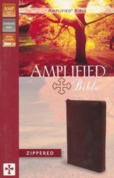 Amplified Zippered Collection Bible, Burgundy
